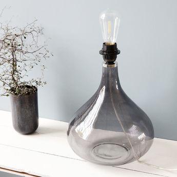 Lampe a poser med gris fume o26cm h34cm house doctor normal