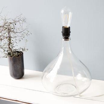 Lampe a poser med transparent o26cm h34cm house doctor normal