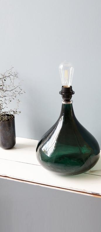 Lampe a poser med vert o26cm h34cm house doctor normal