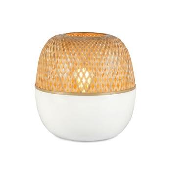Lampe a poser mekong l blanc bambou h33cm o30cm good mojo normal