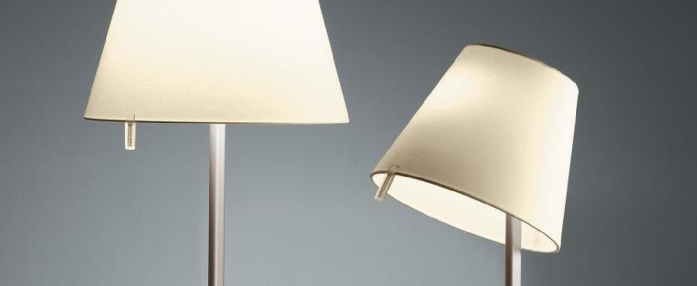 Lampe a poser melampo bronze o42 2cm h58cm artemide normal