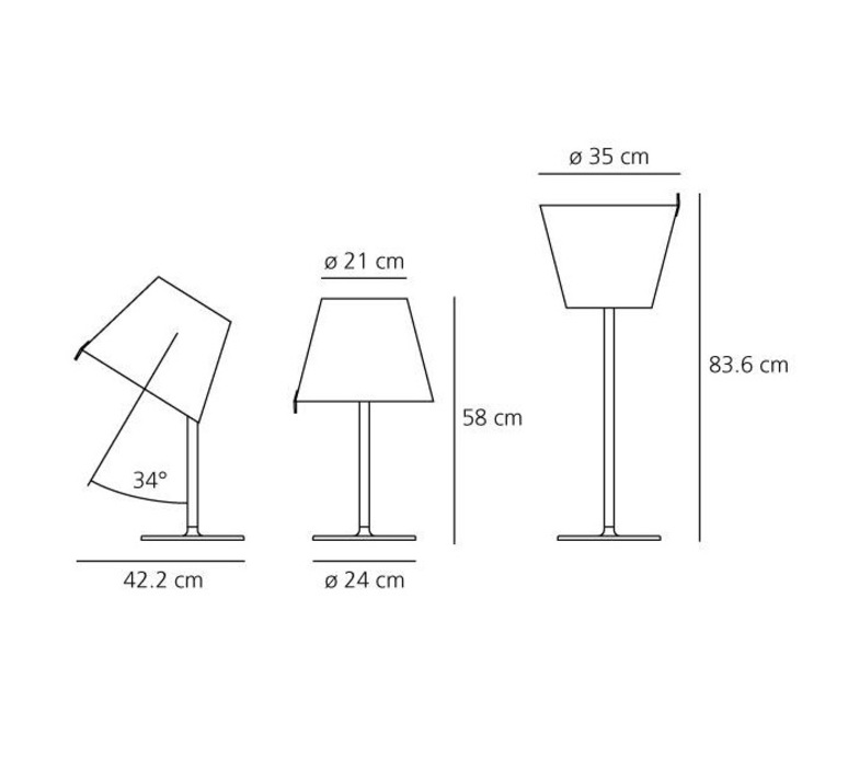 Melampo adrien gardere lampe a poser table lamp  artemide 0315010a  design signed 61065 product