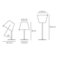 Melampo adrien gardere lampe a poser table lamp  artemide 0315010a  design signed 61065 thumb