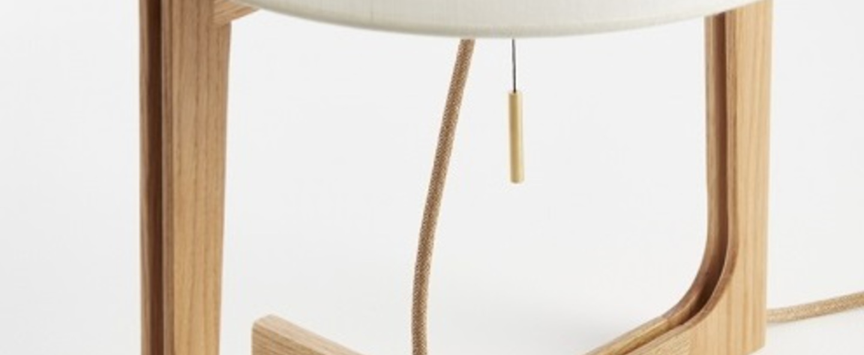 Lampe a poser melina blanc chene o33cm h53cm carpyen normal