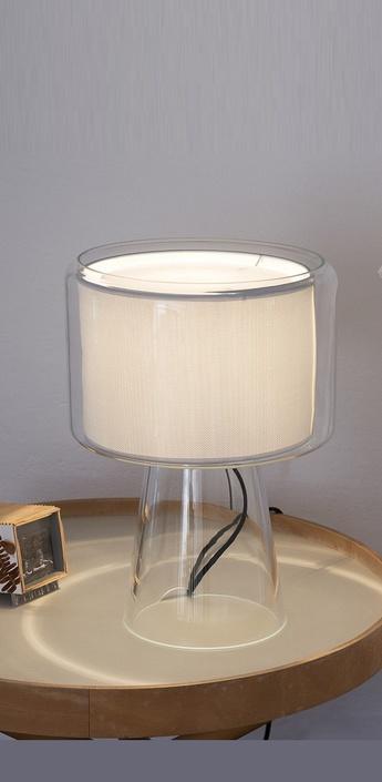 Lampe a poser mercer blanc h41cm marset normal