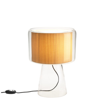 Lampe a poser mercer naturel h25cm marset normal