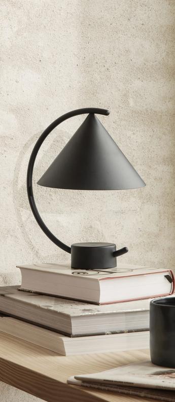 Lampe a poser meridian noir l20 9 cm h26cm ferm living normal