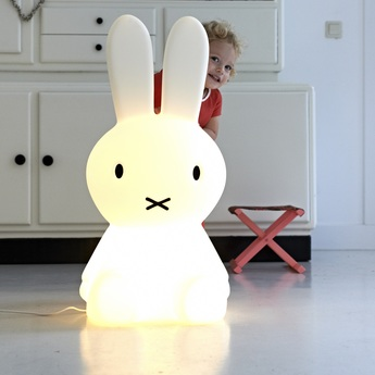 Lampe a poser miffy xl blanc h80cm mr maria normal