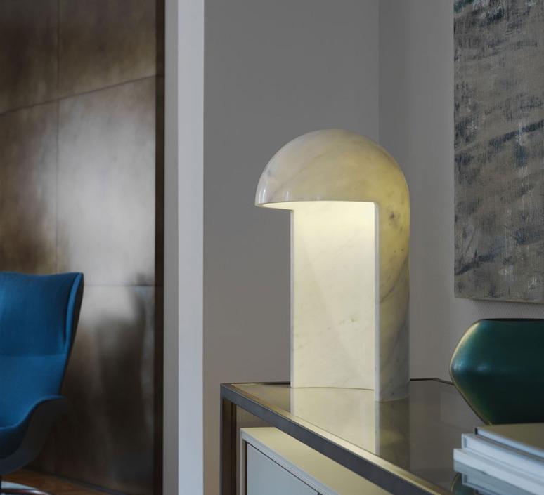 Table lamp, Milano 2015, white marble, H55cm - Fontana Arte ...