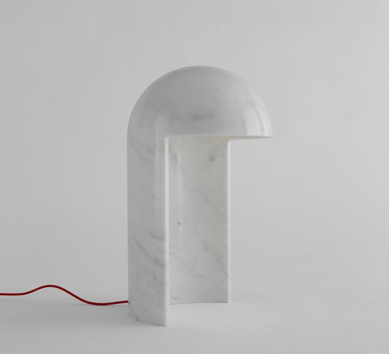 Table lamp, Milano 2015, white marble, H55cm - Fontana Arte ...