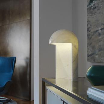 Lampe a poser milano 2015 marbre blanc h55cm fontana arte normal
