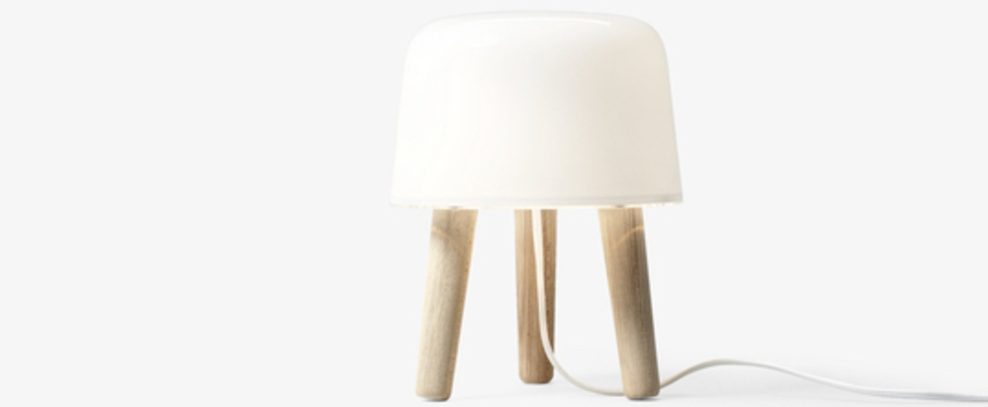 Lampe a poser milk cordon blanc blanc frene o20cm h25cm andtradition normal