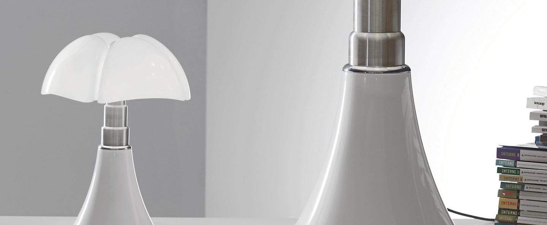Lampe a poser mini pipistrello sans fil blanc led o27cm h35cm martinelli luce normal