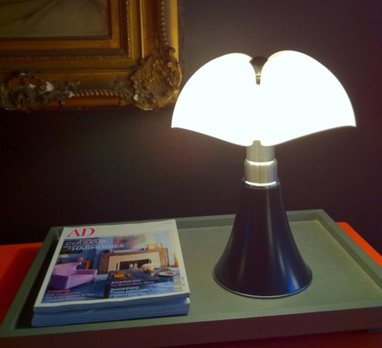 Mini pipistrello sans fil gae aulenti lampe a poser table lamp  martinelli luce 620 j dim t cl ma  design signed 43387 product
