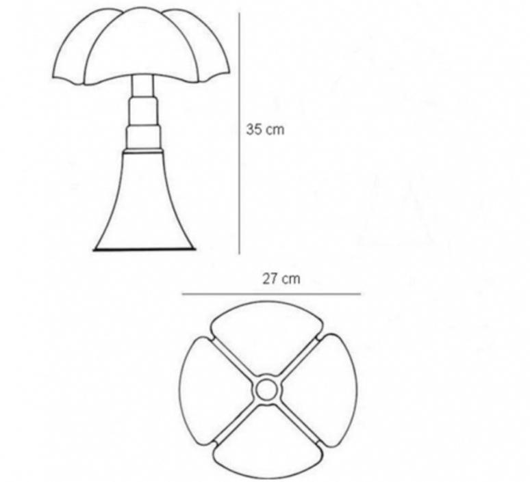 Mini pipistrello sans fil gae aulenti lampe a poser table lamp  martinelli luce 620 j dim t cl ma  design signed 43390 product