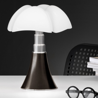 Lampe a poser mini pipistrello sans fil marron fonce led o27cm h35cm martinelli luce normal