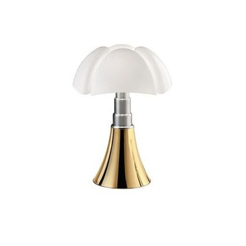 Lampe a poser mini pipistrello tactile led dore h35cm martinelli luce normal