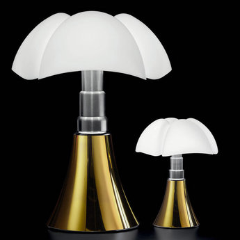 Lampe a poser mini pipistrello touch dimmable blanc or led o27cm h35cm martinelli luce normal