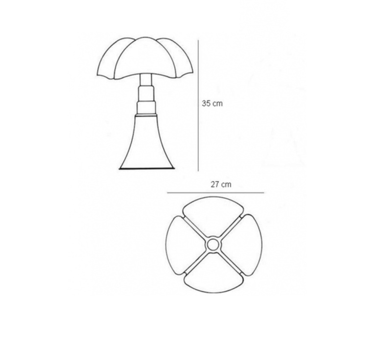 Minipipistrello gae aulenti martinelli luce 620 j t ma luminaire lighting design signed 25525 product