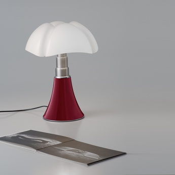 Lampe a poser minipipistrello led rouge h35cm martinelli luce normal