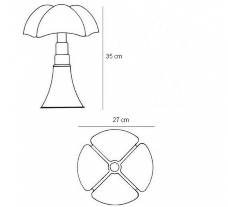 Minipipistrello gae aulenti martinelli luce 620 j t ma luminaire lighting design signed 15591 product