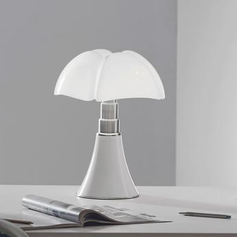 Lampe a poser minipipistrello tactile led blanc h35cm martinelli luce normal