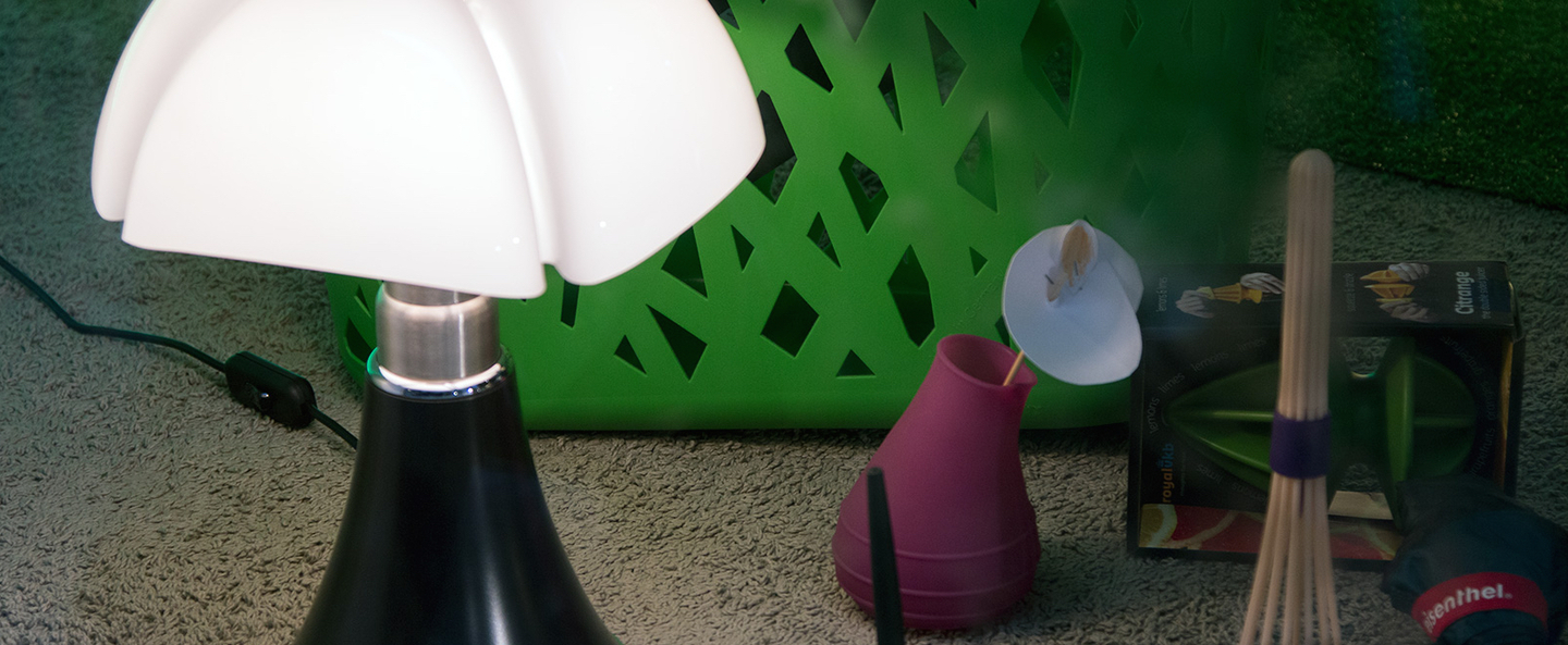 Lampe a poser minipipistrello tactile led marron h35cm martinelli luce normal