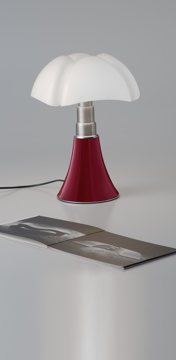 Lampe a poser minipipistrello tactile led rouge h35cm martinelli luce normal