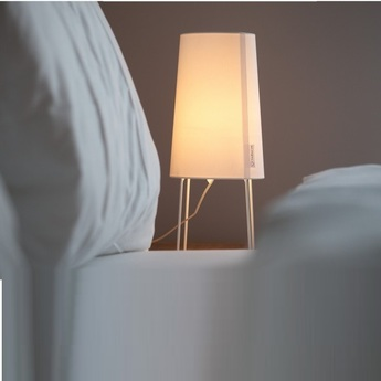 Lampe a poser minisophie blanc h46cm fraumaier normal