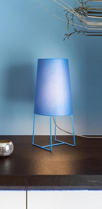 Lampe a poser minisophie bleu h46cm fraumaier normal