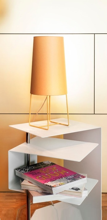 Lampe a poser minisophie moutarde h46cm fraumaier normal