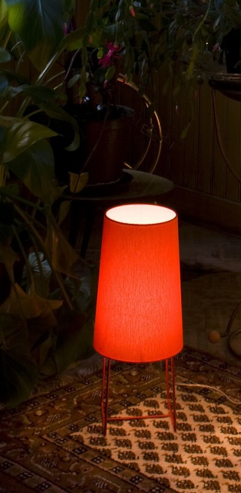 Lampe a poser minisophie rouge h46cm fraumaier normal