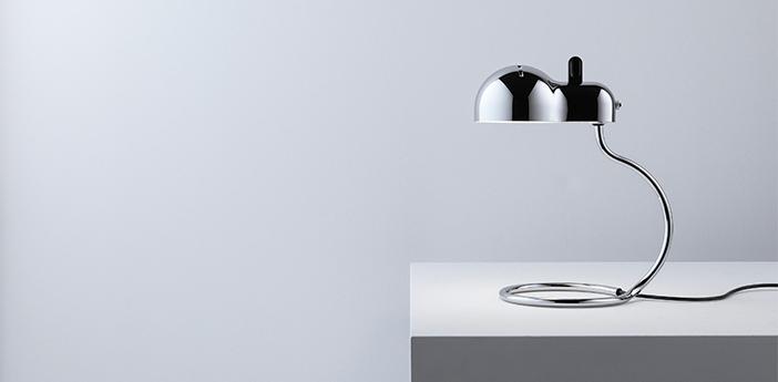 Lampe a poser minitopo chrome l19 4cm h36cm stilnovo normal