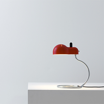 Lampe a poser minitopo rouge et chrome l19 4cm h36cm stilnovo normal
