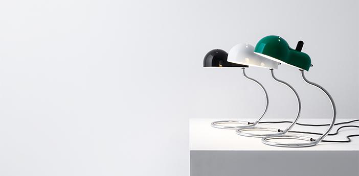 Lampe a poser minitopo vert et chrome l19 4cm h36cm stilnovo normal