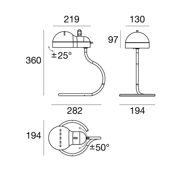 Minitopo joe colombo lampe a poser table lamp  stilnovo 9068  design signed nedgis 119167 product