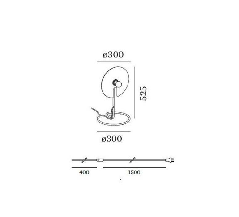 Mirro table 1 0 13 9 design lampe a poser table lamp  wever et ducre 6301e8nb0  design signed nedgis 67391 product