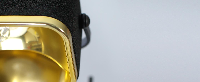 Lampe a poser mob velours noir h60cm swabdesign normal