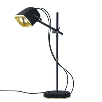 Lampe a poser mob velours noir h60cm swabdesign normal