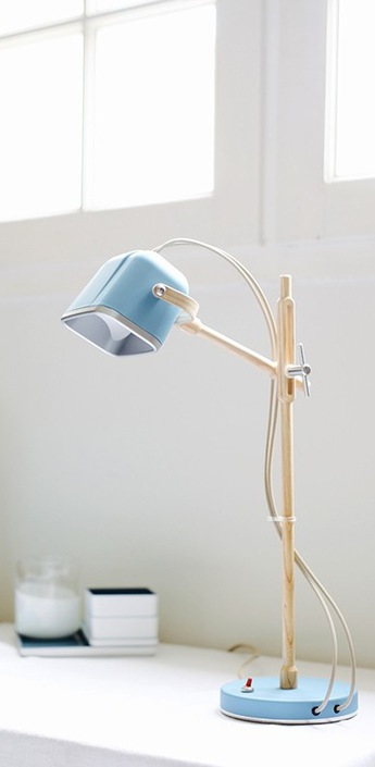 Lampe a poser mob wood bleu mat h60cm swabdesign normal