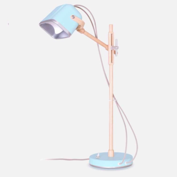 Lampe a poser mob wood bleu pastel cm h55cm swabdesign normal