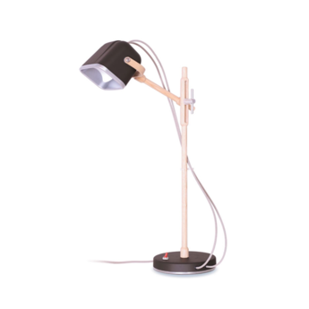 Lampe a poser mob wood noir cm h55cm swabdesign normal