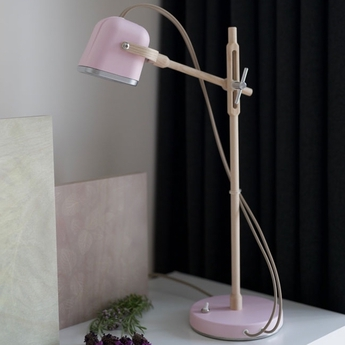 Lampe a poser mob wood rose pastel cm h55cm swabdesign normal