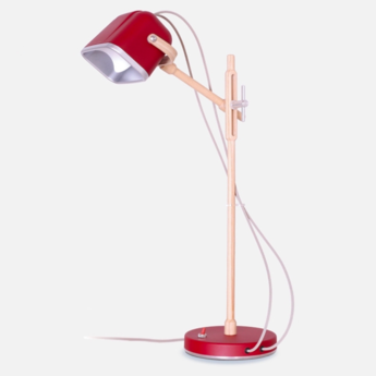 Lampe a poser mob wood rouge cm h55cm swabdesign normal