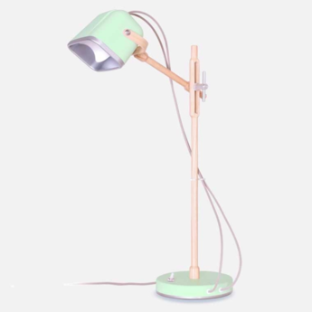 Lampe a poser mob wood vert pastel cm h55cm swabdesign normal