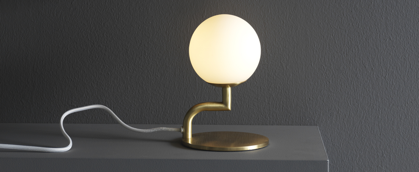 Lampe a poser mobil laiton o12cm h18cm pholc normal