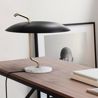 Lampe a poser model 537 noir et laiton o40cm h36cm astep normal