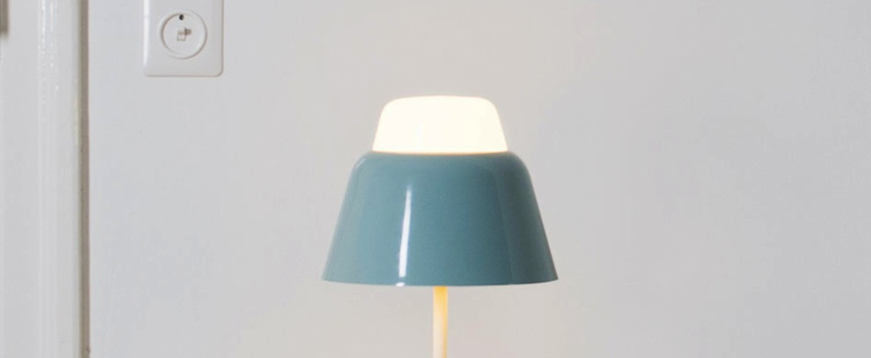 Lampe a poser modu bleu gris h47cm o21cm teo normal