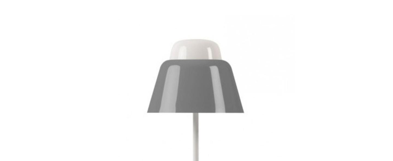 Lampe a poser modu gris h47cm o21cm teo normal