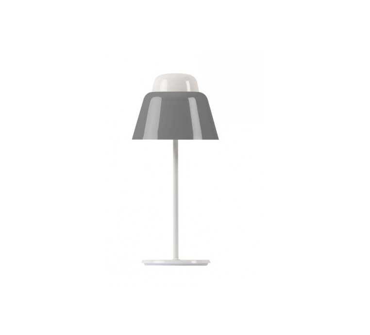 lampe poser modu gris h47cm 21cm teo luminaires nedgis. Black Bedroom Furniture Sets. Home Design Ideas